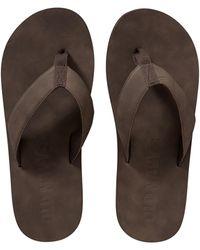 Old Navy - Men's Faux Leather Flip-flops - Lyst