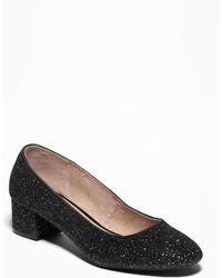 Old Navy - Glitter Block Heels - Lyst