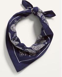Old Navy Patterned Poplin Bandana For Adults - Blue