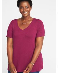 82864c8ad2a Lyst - Old Navy Plush-knit Cold-shoulder Plus-size Top in Green