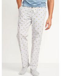 Old Navy Printed Poplin Pyjama Pants - Multicolour