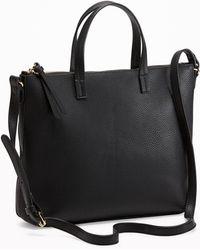 Old Navy Zip-top Shoulder Bag - Black