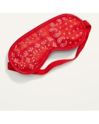 Old Navy Patterned Satin Sleep Mask For Adults - Red