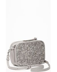 Old Navy Glitter/faux-leather Camera Bag - Metallic