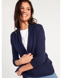 Old Navy Short Shawl-collar Open-front Sweater - Blue