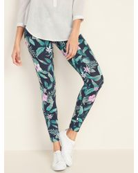 Old Navy Mid-rise Printed Jersey Leggings - Blue