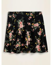 Old Navy Printed Flutter Mini Skirt For Women - Black
