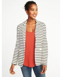 Old Navy - Classic Striped Knit Blazer - Lyst