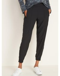 Old Navy Mid-rise Stretchtech Jogger Pants - Black