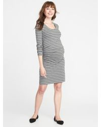 61df14f05f5dd Lyst - Old Navy Plus-size Scoop-neck Bodycon Dress in Gray