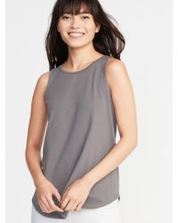d96c97cebb7e79 Lyst - Old Navy Maternity Sleeveless High-neck Swing Top in Green