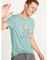 Old Navy - Soft-washed Crew-neck Graphic Tee - Lyst