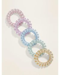 Old Navy Spiral Hair Ties 5-pack - Blue