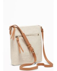 Old Navy Canvas Swingpack Bag - White