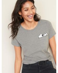 17e082929f0 Old Navy - Peanuts® Snoopy-graphic Tee - Lyst