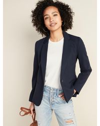 Old Navy Classic Ponte-knit Blazer For Women - Blue