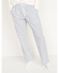 Old Navy Patterned Poplin Pyjama Pants - Grey