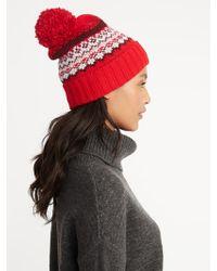 Lyst - Calvin Klein 205W39Nyc Sweater Knit Beanie With Pom-pom in Black e0a43f076c53