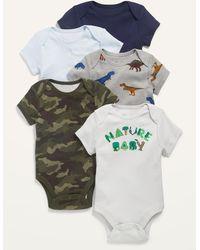 Old Navy 5-pack Short-sleeve Bodysuit For Baby - Green