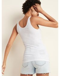 Old Navy First-layer Slim-fit Rib-knit Tank Top - White