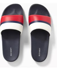 Old Navy - Faux-leather Slide Sandals - Lyst