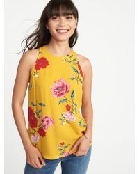 Old Navy - Relaxed High-neck Floral-print Tank - Lyst