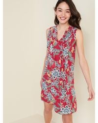 Old Navy Sleeveless Tie-neck Swing Dress For Women - Red
