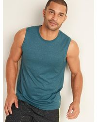 Old Navy Go-dry Cool Odor-control Core Tank Top - Blue