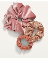 Old Navy Luxe Hair Scrunchies 3-pack - Pink