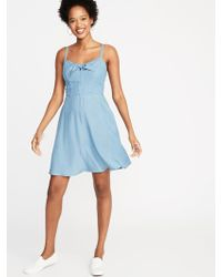 a51b4dd5869 Lyst - Old Navy Plus-size Fit   Flare Tiered Cami Dress in Blue