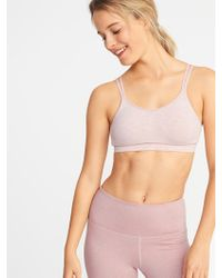 422bb43ca9f65 Old Navy - Seamless Light Support Strappy Sports Bra - Lyst