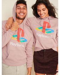 Old Navy Sony Playstationtm Gender-neutral Pullover Hoodie - Pink