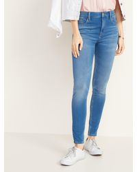 Old Navy High-waisted Rockstar 24/7 Sculpt Super Skinny Jeans - Blue