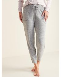 Old Navy Mid-rise Plush-knit Jogger Pajamas - Gray
