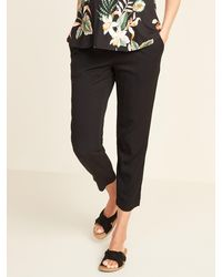 Old Navy Maternity Rollover-waist Cropped Soft Pants - Black