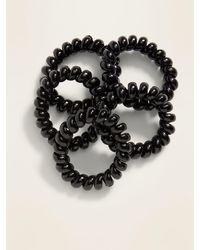 Old Navy Spiral Hair Ties 5-pack - Black
