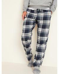Old Navy Plaid Flannel Pajama Pants - Blue