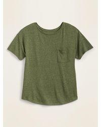 Old Navy Loose-fit Linen-blend Pocket Easy Tee - Green