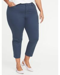 Old Navy - Mid-rise Secret-slim Pockets Plus-size Pixie Chinos - Lyst
