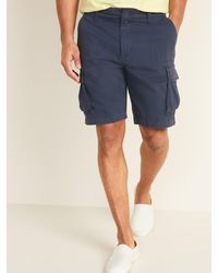 Old Navy Lived-in Cargo Shorts For Men - 10-inch Inseam - Blue
