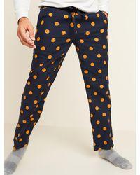 Old Navy Printed Flannel Pajama Pants - Blue