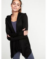 Old Navy - Open-front Jersey Hoodie - Lyst