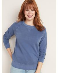 Old Navy Relaxed Crew-neck Sweatshirt For Women - Blue