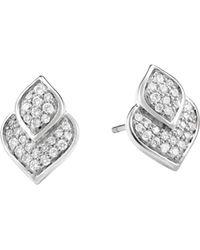 John Hardy - Legends Naga Pave Diamond Stud Earrings - Lyst