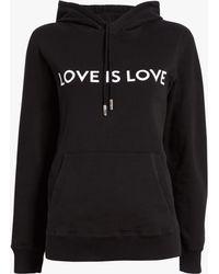 Prabal Gurung Love Is Love Hoodie - Black