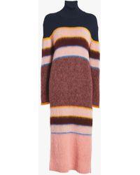 Sportmax - Knitted Wool Turtleneck Dress - Lyst
