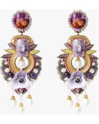 Ranjana Khan Alyssum Clip-on Earrings - Purple