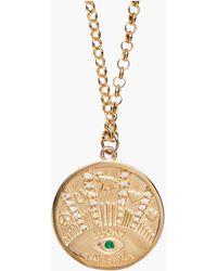 Marlo Laz Talisman Coin Necklace - Metallic