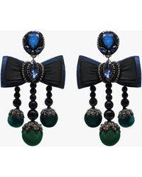Ranjana Khan Lila Clip-on Earrings - Black