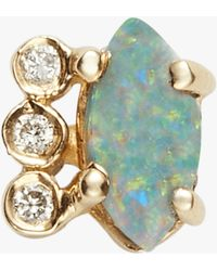 Jacquie Aiche - Diamond Opal Marquise Stud - Lyst